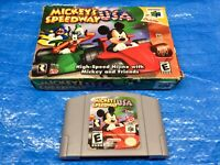Authentic Nintendo 64 Mickey's Speedway USA Game in Box N64