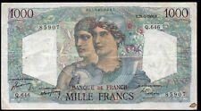 1000 francs;MINERVE et HERCULE;émis le 20.4.1950 ;FAY 41/32; AVANT DERNIERE DATE