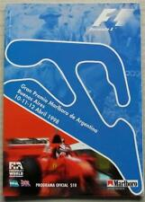 ARGENTINE GRAND PRIX 1998 FORMULA ONE F1 BUENOS AIRES Official Race Programme