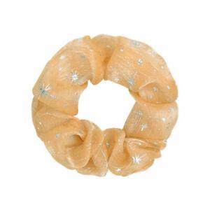 Women Organza Hair Rope Star Chiffon Hair Scrunchies Elastic Rubber Hair Band*