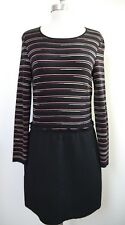 MISSONI M striped knit black bottom dress Italian 44 US 8 WORN ONCE