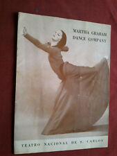 RARE 1979 MARTHA GRAHAM DANCE COMPANY ON PORTUGAL S. CARLOS THEATRE PROGRAM