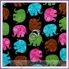 BonEful Fabric Fq Cotton Quilt Corduroy African Elephant Animal Baby Zoo Paisley
