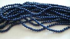 1 Strang gefärbte Mashan Jade Perlen Kugeln Blau 4mm