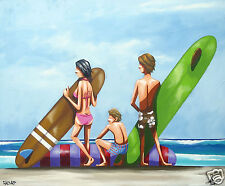 ART  BEACH SURF PAINTING  andy baker bald art