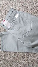 NEW LEVIS 511 SLIM TROUSER  JEANS MENS 34X30 #035110100 TAN/GREEN FREE SHIP