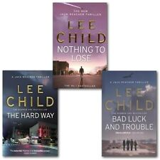 Lee Child Collection Jack Reacher 3 Books Set, The Hard Way, Bad Luck And Troubl