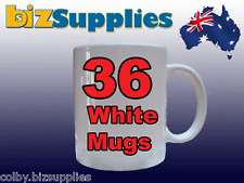 36x Gloss White Dye Sublimation Coffee Mugs for Heat Transfer