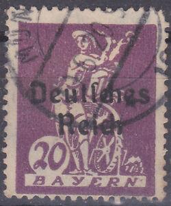 Germany Deutsches Reich 1920 Mi. Nr. 122 PF X 20 Pf Bavaria Def. Opt USED