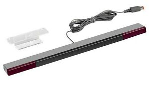 Sensor Bar For Nintendo Wii & Wii U With Stand - Wired Infrared Receiver Wii