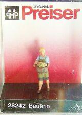 NEW RELEASE : HO Preiser 28242 Farmer's Wife Figure w/ Basket of Potatoes