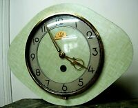 Horloge Vintage Formica FFR 1960 pendule mécanique Fonctionne 1960 / 70 S