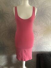 Ladies Primark Pink Stretch Vest Top Dress UK Size 8