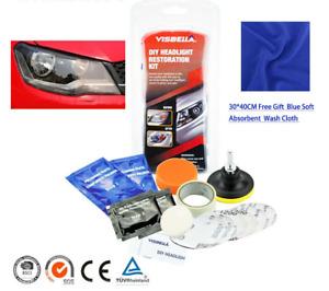 Headlamp Brightener DIY Headlight Restoration Kit Polisher For Car Light Lenses