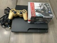 Sony PlayStation 3 PS3 Slim 120 GB Console 6 Games 1 Controller HDMI & AC Cord