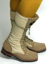 Schnürschuh Schnürstiefel Vintage Blogger Leder Boots Buffalo 38,5 - 39