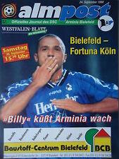 Program 1998/99 Arminia Bielefeld - Fortuna Cologne