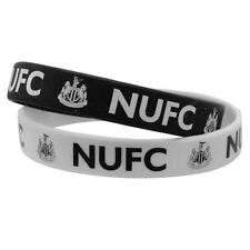 2 x NUFC WRIST BANDS ONE SIZE FITS ALL OFFICIAL MERCHANDISE SUPPORTERS BRACELET