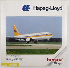 Boeing 737-800 Hapag-Lloyd D-AHFC Herpa 560221 1:400 in OVP [PQ]