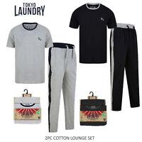 Tokyo Laundry Mens Advance Cotton Loungewear Pyjamas Set Top /& Bottoms Two Piece