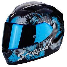 Helmet Scorpion Exo 1200 Tenebris Black Sky Blue Moto Fullface En Fiber