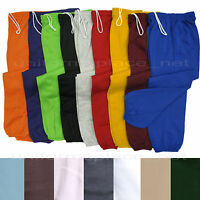Unisex Mens Womens Sweatpants Fleece Workout Gym Pants Elastic Waist S - 5XL