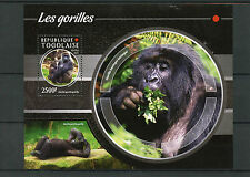 Togo 2015 MNH Gorillas 1v S/S Wild Animals Apes Monkeys Gorilles