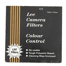 "LEE 81B Warm-Up Couleur Conversion 7.5 cm 3"" Square Gel Filtre New Old Stock"