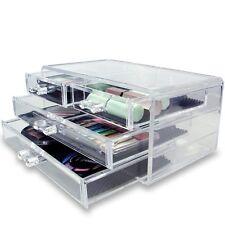Multi Drawer Makeup Jewelry Crafts Bathroom Office Accessory Organizer Storage
