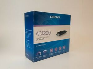 Linksys AC1200 Dual-Band WiFi 5 USB Adapter With Start Guide Instructions