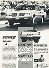 1984 OLdsmobile Allan Patterson Race SS/GTC 442 Car Review Print Article J506