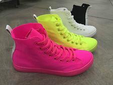 Scarpe donna sneakers in tessuti color fuxia,giallo,bianco,nero comodissimi