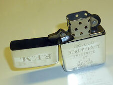 Vintage Sterling Silver Zippo Lighter with engravings - 1987-U.S.A.