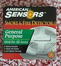 American Sensors Smoke & Fire Detector General Purpose Ionization Technology