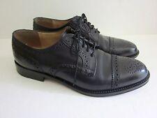 COLE HAAN Mens Black Leather Wingtip Oxfords Casual Dress Shoes Size 8 D Lace Up