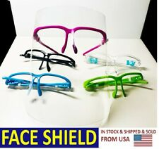 X5 Sets Color Full Face Clear Shield Double-Side Anti-Fog US Seller Ship Fast
