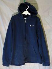 New listing Boys Girls Nike Dusky Dark Blue Classic Hooded Jacket Hoodie Age 13-14 Years
