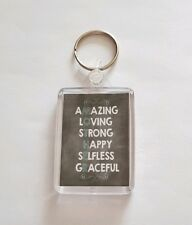 Mother Quote Keyring. Mothers Day Gift. Birthday Gift. Keepsake.