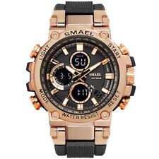 SMAEL Men Gold Watches Fashion Digital LED Wristwatch Big Face Male Quartz Watch