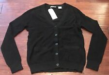 Levis 189390006 Women's Black Mixed Knit Pocketed Button Up Cardigan Size XS