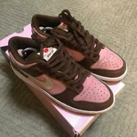 NIKE Dunk SB Cherry Pink Brown White Sneakers Men's Shoes Size US9.5