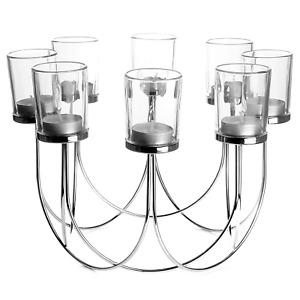 8 Tea Light Candle Holder Wedding Table Centerpiece Decoration M&W