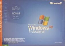 MICROSOFT WINDOWS XP PROFESSIONAL SERVICE PACK SYSTEM CD For NOBILIS-NEW SEALED