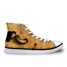 Mens Snake Designer High Top Sneakers Canvas Casual Shoes UK 7 8 9 10 10.5 11.5