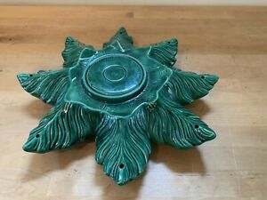 Vintage Atlantic Mold Christmas Tree PART BASE ONLY large size green ceramic