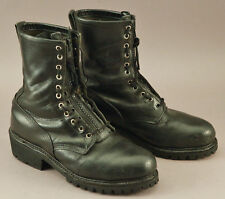 Vintage Red Wing boots black leather zip steel toe military biker style size 12?