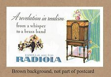 RADIOLA 46 1930   RADIO COMMEMORATIVE POSTCARD