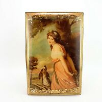 Vintage Jacob & Co Adverting Biscuit Tin Lady Hamiliton Painting