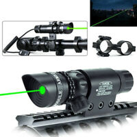 Tactical Green Red Laser Lazer Beam Dot Sight w/Mount Rifle Gun Hunting Battery