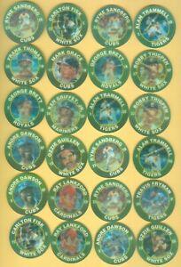 Lot of 36 1991 7-Eleven Coins DISCS Midwest Region 2 BRETT 4 Sandberg GRIFFEY